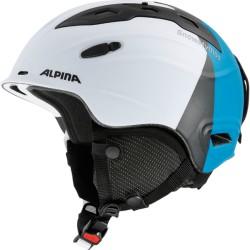 ALPINA CASCO SNOW MYTHOS - white-silver-blue matt
