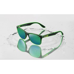 new ETIE' SUGLASSES AGED EFFECT BLACK/GREEN