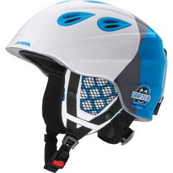 ALPINA CASCO GRAP 2.0 JUNIOR - white-silver-blue