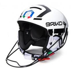 CASCO SCI BRIKO SLALOM FISI - WHITE &  BLACK