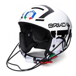 HELMET BRIKO SLALOM FISI - WHITE &  BLACK