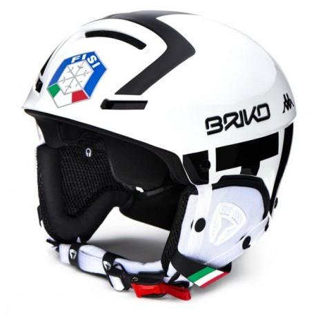 HELMET BRIKO FAITO FISI - WHITE & BLACK