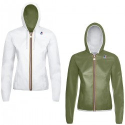 K-WAY LILY PLUS DOUBLE - White-Green Olive
