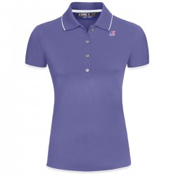 K-WAY POLO ELSIE STRETCH BINDING - Violet dk-White