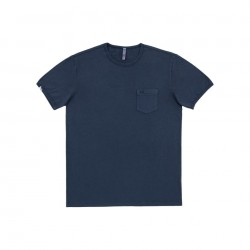 SUN68 T-SHIRT ROUND NECK POCKET S/S - Navy Blue