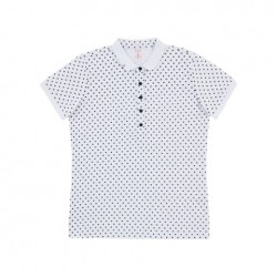 SUN68 POLO EL. FULL POIS WOMAN - White