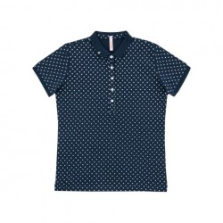 SUN68 POLO EL. FULL POIS WOMAN - Navy Blue