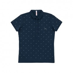 SUN68 POLO EL. DIAMOND WOMAN - Navy Blue