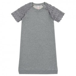 SUN68 DRESS LACE COTTON FL - Grey