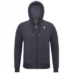 K-WAY RAINER FLEECE - Grey Anthracite Mel