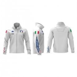 KAPPA PILE FISI ITALIA 2018 UOMO 6CENTO 687  - White