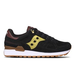 SAUCONY ORIGINALS - SHADOW O'Suede - Nero/Oro