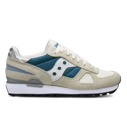 SAUCONY ORIGINALS - SHADOW O W - Crema/Blu