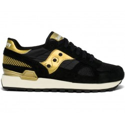 SAUCONY ORIGINALS - SHADOW O W - Black/Gold