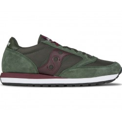 SAUCONY ORIGINALS - JAZZ O M - Grenn/Burgundy