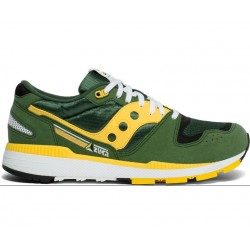 SAUCONY ORIGINALS - AZURA M - Green/Yellow