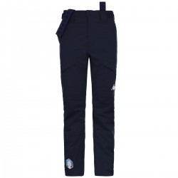 KAPPA PANTALONE SCI UOMO FISI ITALIA 2020 6CENTO 622 Full Zip - Blue Night/Blue Night