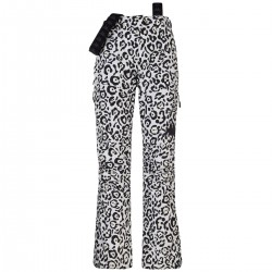KAPPA PANTALONE SCI DONNA 2020 6CENTO 665P - Black White Leopard