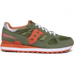 SAUCONY ORIGINALS - SHADOW O M - Green/Orange