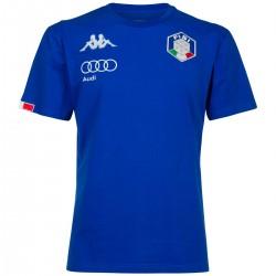 KAPPA T-SHIRT UNISEX FISI ITALIA - Blue Princess