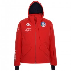 KAPPA GIACCA SCI UOMO FISI ITALIA 2020 6CENTO 611  - RED - BLUE NIGHT