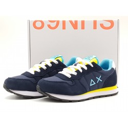 SUN68 JR - TOM SOLID NYLON NAVY BLUE/GIALLO