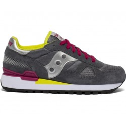 SAUCONY ORIGINALS - SHADOW O W - Grey/Silver/Red