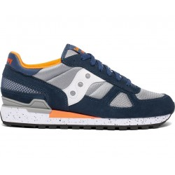 SAUCONY ORIGINALS - SHADOW O M - Blue/Grey/Orange