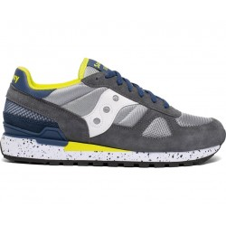 SAUCONY ORIGINALS - SHADOW O M - Grey/Blue/Yellow