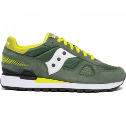 SAUCONY ORIGINALS - SHADOW O M - Green/White/Yellow